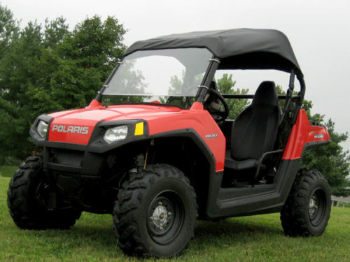 ROOF & HARD WINDSHIELD for Polaris RZR - Travels Highway Speeds - Commercial