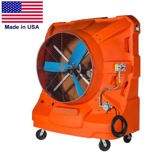 "48"" EXPLOSION PROOF Swamp Cooler - 22,500 CFM - 5625 sq ft - 115 Volts - 65 Gal"