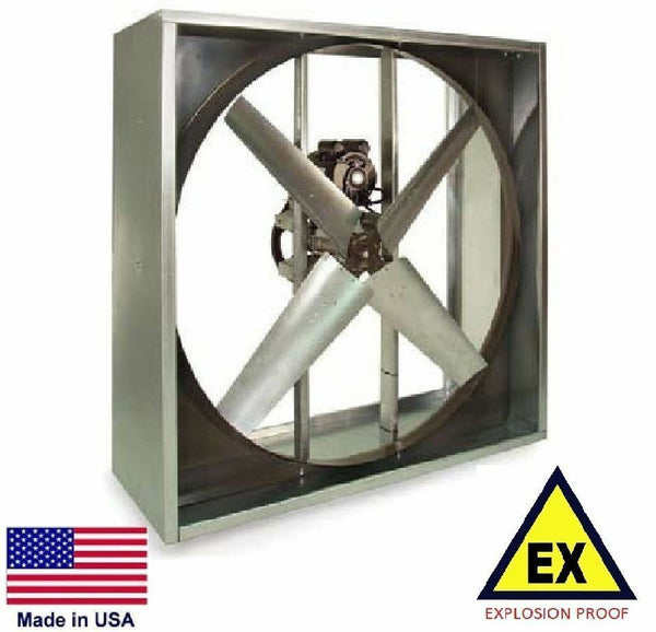 "EXHAUST FAN - Explosion Proof - Belt Drive - 36"" - 230/460V - 1 Hp - 12,100 CFM"