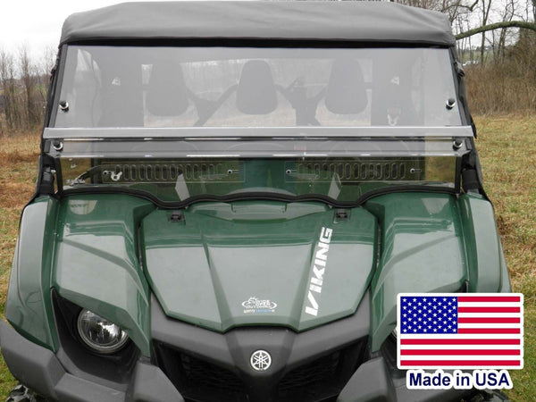 HARD WINDSHIELD for Yamaha Viking - Polycarbonate - Withstands Highway Speeds