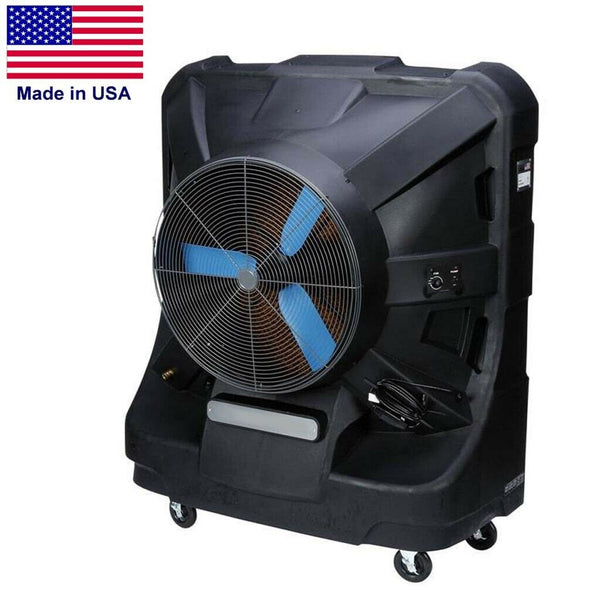 Portable Evaporative SWAMP COOLER - 12500 CFM - 3125 sq ft - 120 V - 60 Gal Tank