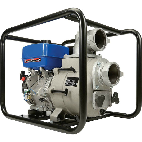"Portable WATER TRASH PUMP - 4"" In and Out - 1.5"" Solids - 458 GPM - 14 HP - Gas"