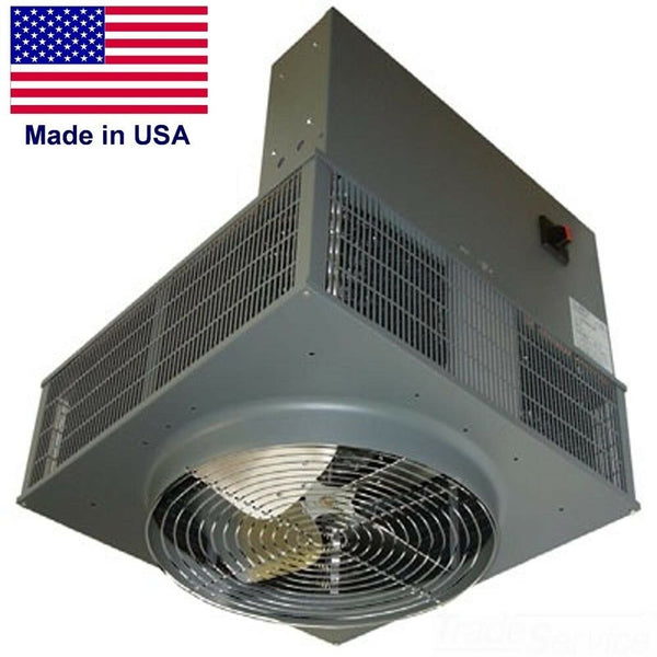 Downflow HEATER - 480 Volts - 25,600 BTU - 3 Ph - 640 sqft - Enclosed - Electric