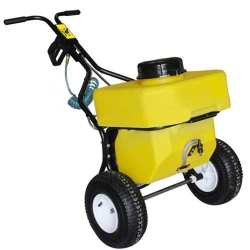 12 Gallon Salt Spreader - Push Behind - Hand Wand - 12 Volts - 100 Lbs Capacity
