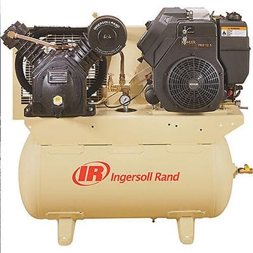Stationary Air Compressor - Electric & Recoil - 30 Gallons - 175 PSI - 14 HP