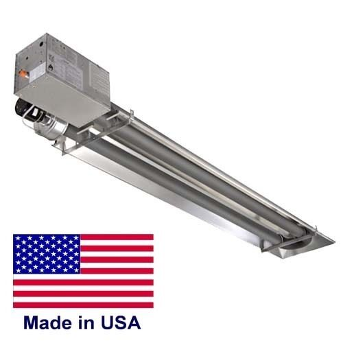 COMPACT Infrared TUBE HEATER Commercial - 35,000 BTU - Natural Gas - 9 Ft - 120V
