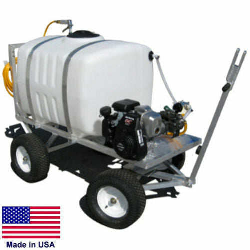 SPRAYER Commercial - Trailer Mounted - 200 Gallon Tank - 5 GPM - 275 PSI - 5 HP