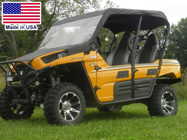 VINYL WINDSHIELD and ROOF for Kawasaki Teryx 4 - Puncture Proof - Soft Top