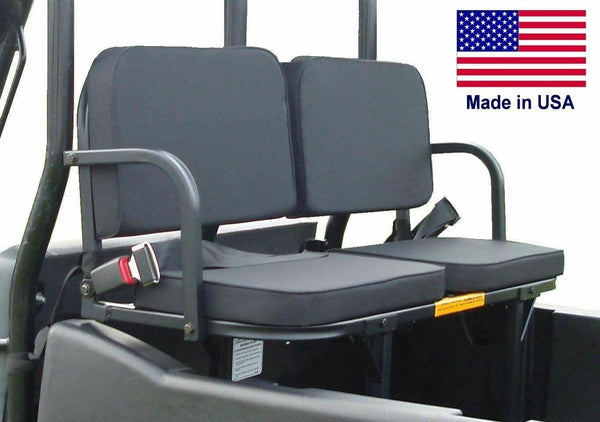 Kawasaki UTV REAR SEATS - 350 Lbs Cap - Safety Belts - Install Bracket - Addon