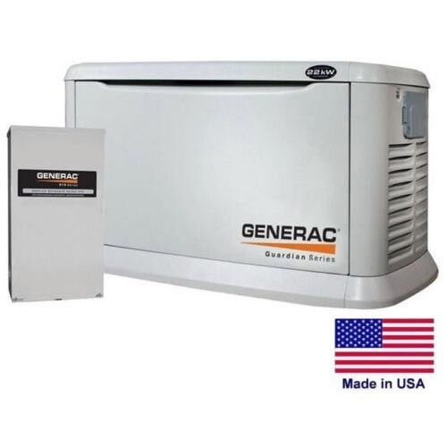 STANDBY GENERATOR - Residential - 22 kW - NG & LP - Incl 200 Amp Transfer Switch