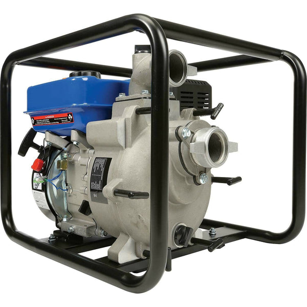 "Portable WATER TRASH PUMP - 2"" In and Out - 3/4"" Solids - 158 GPM - 7 HP - Gas"