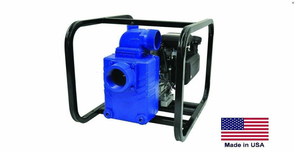 "WATER PUMP Commercial - Portable - 3"" Ports - 8 Hp Vanguard 21,360 GPH - 48 PSI"