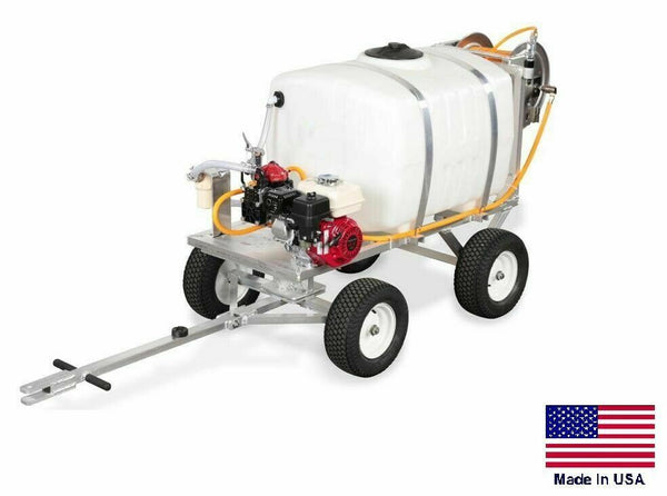 50 Gallon Sprayer - 4 Wheel - 10 GPM - 580 PSI - 5.5 HP GX160 Honda