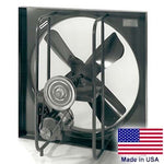 "30"" Exhaust Fan - 3 PH, 1/3 HP, 7500 CFM, 1725 RPM, 230/460V, 4 Blades, Enclosed"