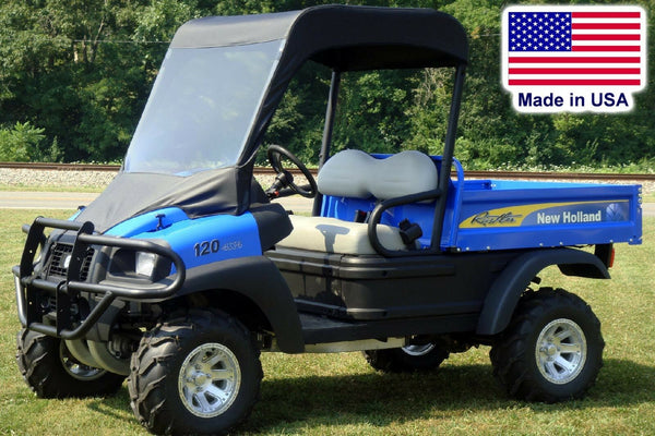 New Holland Rustler VINYL WINDSHIELD and ROOF COMBO - Soft Top - Puncture Proof