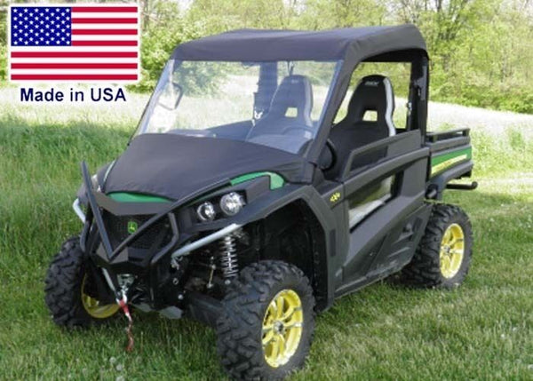 VINYL WINDSHIELD and ROOF for John Deere Gator 850i - Canopy - Soft TOP Material