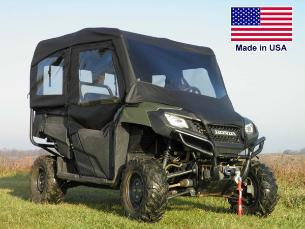 Honda 700-4 Full Enclosure - Vinyl Windshield, Roof, Doors, & Rear Window