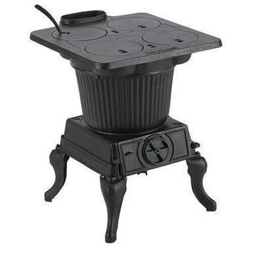 HEATER & COOK STOVE Cast Iron 1,000 Sq Ft - 60,000 BTU