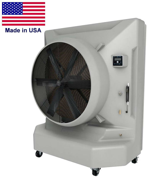 "Portable Evaporative SWAMP COOLER - 26000 CFM - 6500 sqft - 120 Volt - 50"" Blade"