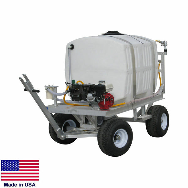 SPRAYER Commercial Trailer Mounted - 200 Gallon Tank - 9.5 GPM - 580 PSI - 5.5HP