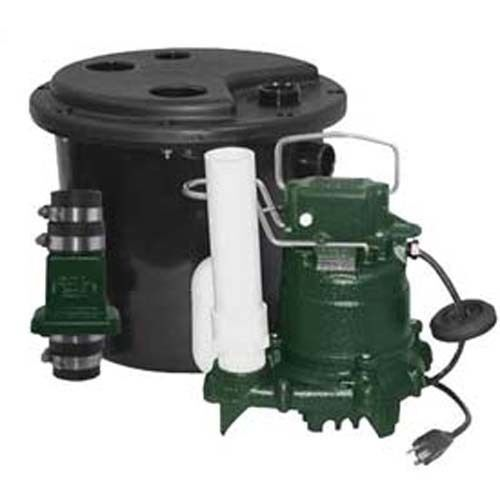 Drain Pump System - 1/2 HP - 115 Volts - 1 Phase - 72 GPM - NPT Connections