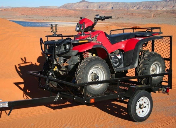 "ATV Trailer - 1,000 lbs GVWR Cap - 12"" Wheels - DOT Lighting - Industrial Duty"