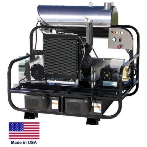 PRESSURE WASHER Diesel Hot Water - Skid Mounted - 7 GPM - 4000 PSI - 23 Hp 115V