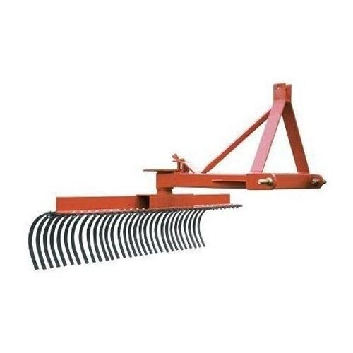 "LANDSCAPE RAKE - 3 Point Hitch Mounted - 60"" Wide - Commercial Duty - USA Made"