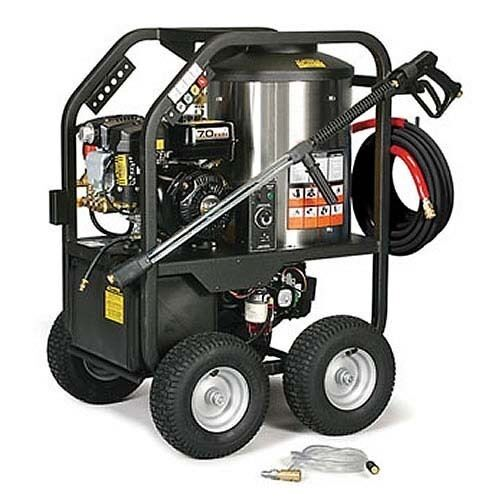 Portable Hot Water Pressure Washer Gas  - 3,000 PSI - 3.5 GPM - 12V DC Burner