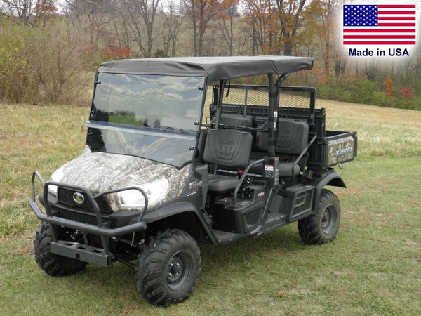 Kubota RTV X1140 HARD WINDSHIELD and Roof Combo - Soft Top - Canopy - Commercial