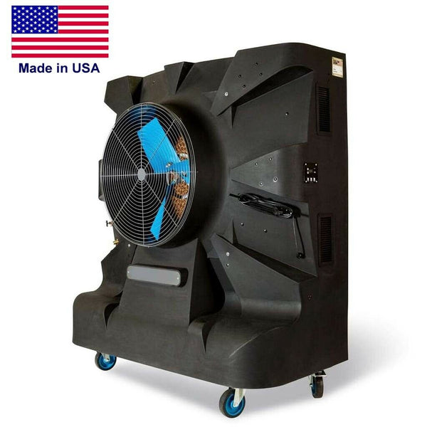 "36"" Portable Evaporative SWAMP COOLER - 18500 CFM - 4250 sqft - 120 V - 70 Gal"
