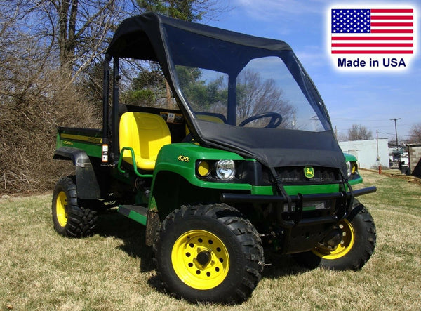 VINYL WINDSHIELD and ROOF Combo for John Deere Gator TS TX & Turf Gator
