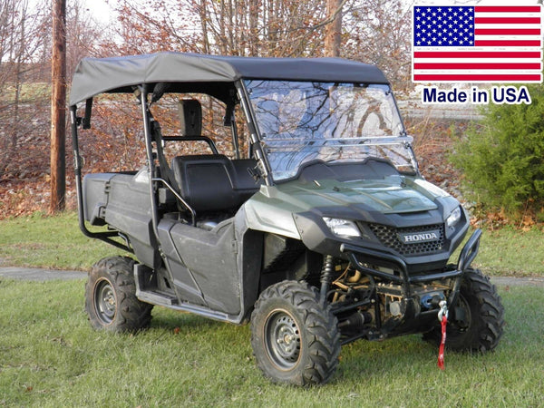 Hard Windshield & Roof for Honda 700-4 - Canopy - Top - Commercial Duty