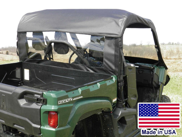 REAR WINDOW and ROOF Combo for Yamaha Viking - Puncture Proof - Soft Acrylic