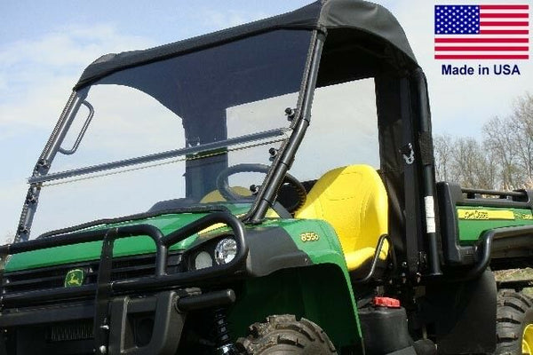 John Deere Gator HPX XUV HARD WINDSHIELD and ROOF Combo - Travels Highway Speed