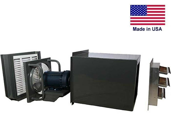 "18"" FILTERED EXHAUST FAN - 3150 CFM - 115/230V - 1/2 HP - Direct EXPLOSION PROOF"