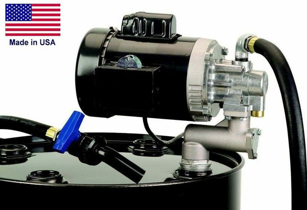Oil Transfer Pump - 8 GPM - 115 Volt - 1 HP - Drum Barrel Mounted - Self-Priming