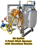 50 Gallon Sprayer - Boomless Nozzle - 12 GPM at 540 RPM & 300 PSI - Commercial