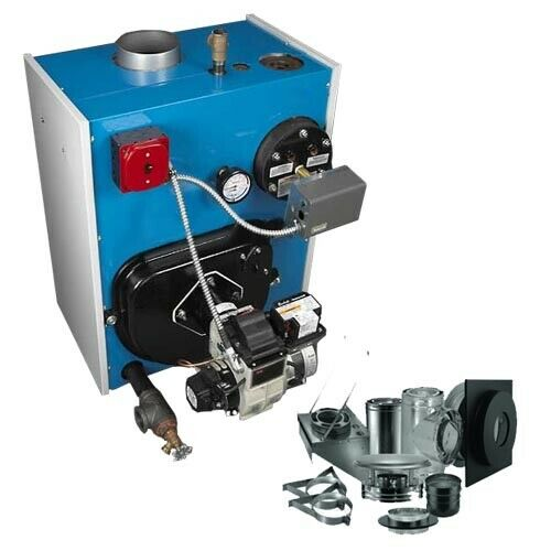 Oil Fired Boiler - Hot Water - Tankless Coil - 175,000 BTU - Thru Wall Vent Kit