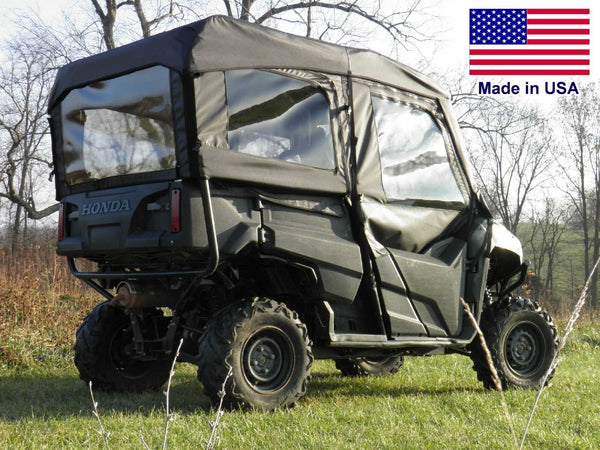 Honda 700-4 Full Enclosure - HARD WINDSHIELD, Doors, Rear Window, & Roof - Soft