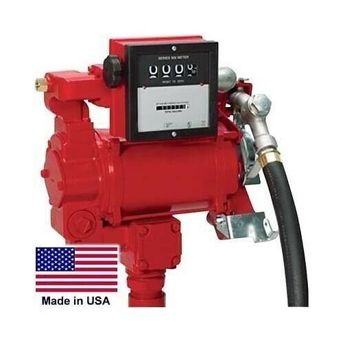 Dual Voltage Fuel Pump with Meter - 115 / 230 Volt - 3/4 HP - UL/CUL listed