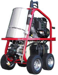 Portable Hot Water Pressure Washer - 2,700 PSI - 2.5 GPM - Gas - Diesel Heated