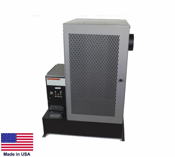 "WASTE OIL HEATER Multi Fuel - 12"" Pedestal - 120,000 BTU - 15 Gallon - Drip Feed"