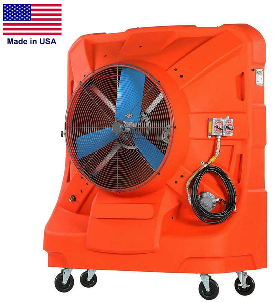 "36"" EXPLOSION PROOF Swamp Cooler - 12,500 CFM - 3125 sq ft - 120 Volts - 45 Gal"