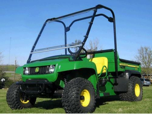 HARD WINDSHIELD for John Deere TS TX & Turf - Travels Highway Speed - Commercial