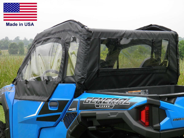 DOORS & REAR WINDOW for Polaris General - Zip Down Windows - Puncture Proof