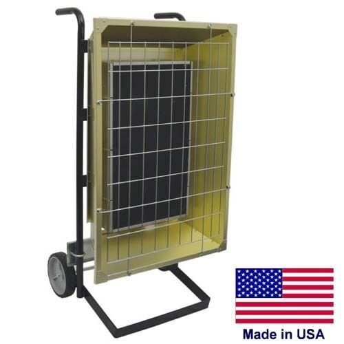 Portable Infrared HEATER - 208 VOLTS - 14,672 BTU - 1 or 3 Phase - Prewired