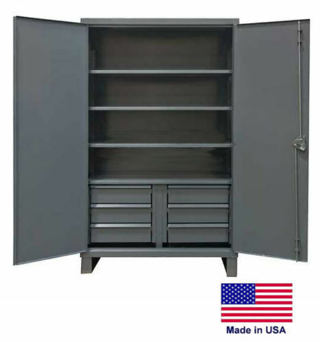 "STEEL CABINET Commercial Duty - Shelves & Drawers 4/6 - 78""H x 24""D x 48""W"