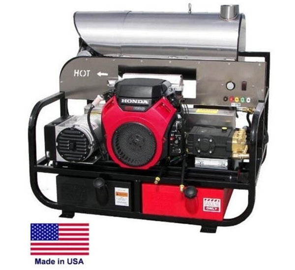 PRESSURE WASHER Hot Water - Skid Mounted - 8 GPM 3000 PSI - 22 Hp Honda 115 Volt