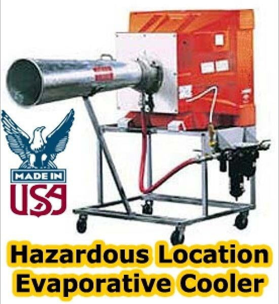 "Portable Evaporative Cooler - 16"" Direct Drive - 7 Amps - Hazard Explosion Proof"